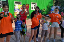 В детском лагере Дружных прошёл конкурс посвящённый дню ВМФ! Дети были счастливы!